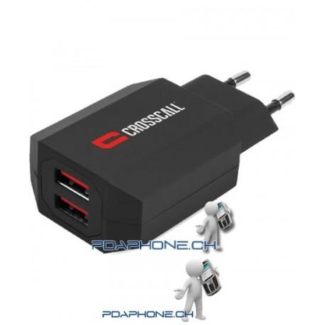 Crosscall Chargeur secteur double USB