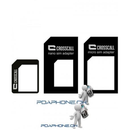 Crosscall Kit d'Adaptateur Nano SIM / Micro SIM / SIM